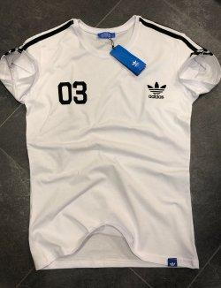 Beyaz Siyah Adidas Erkek T-shirt