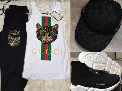 Gucci Eşofman Takımı Balenciaga Ayakkabı Şapka Kombini E0406