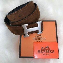 Hermes Buckle Belt Hakiki Süet Kemer