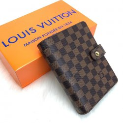 Louis Vuitton Ajanda Kahve Dama Vejital Deri